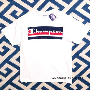 Champion Script Red, White & Blue Big & Tall Tee